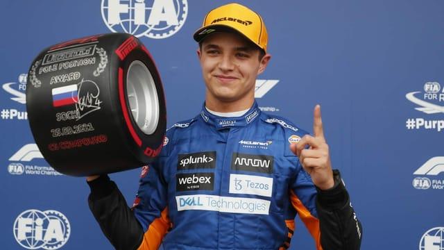 Norris mit erster Karriere-Pole – Hamilton nur Vierter