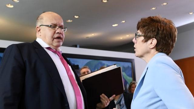Altmaier und Kramp-Karrenbauer verzichten auf Sitz im Bundestag