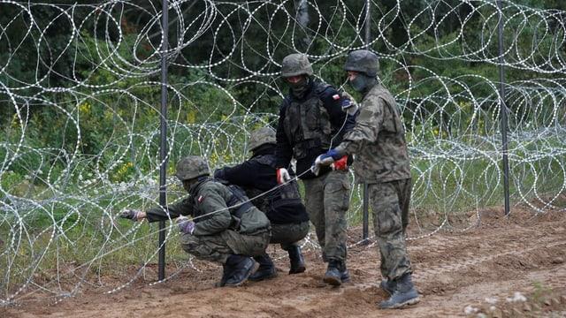 Zwölf EU-Länder fordern Zäune und Stacheldraht an der Grenze