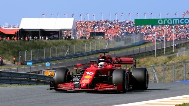 Leclerc ist im Ferrari der Schnellste beim Zandvoort-Comeback