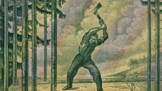 Hodlers «Holzfäller»: Einer, der einschlug