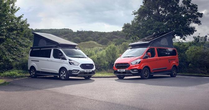 Ford präsentiert am Suisse Caravan Salon als Schweizer Premiere die neuen Nugget-Varianten Active und Trail