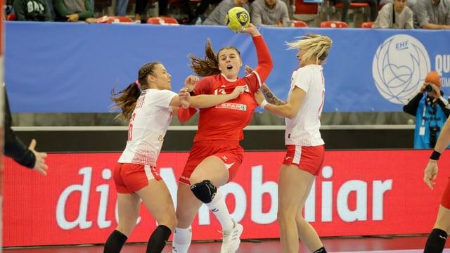 Schweizer Handballerinnen gegen Polen auf verlorenem Posten