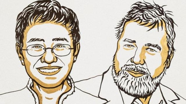 Friedensnobelpreis geht an Maria Ressa und Dmitri Muratow