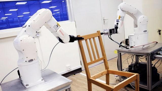 Roboter bauen Stuhl in 20 Minuten auf – wie lange brauchen wir?