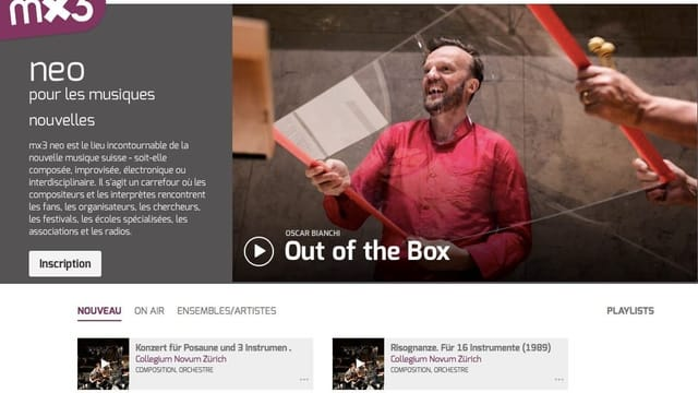 SRG lanciert Plattform für zeitgenössische Musik aus der Schweiz
